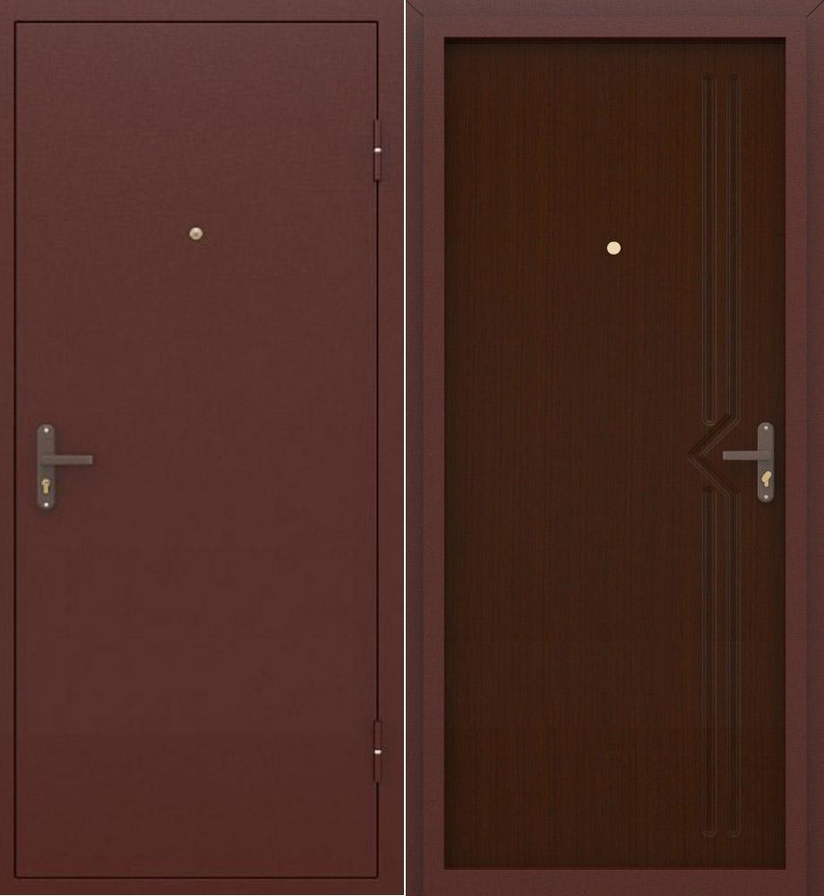 дверь строительная металлическая